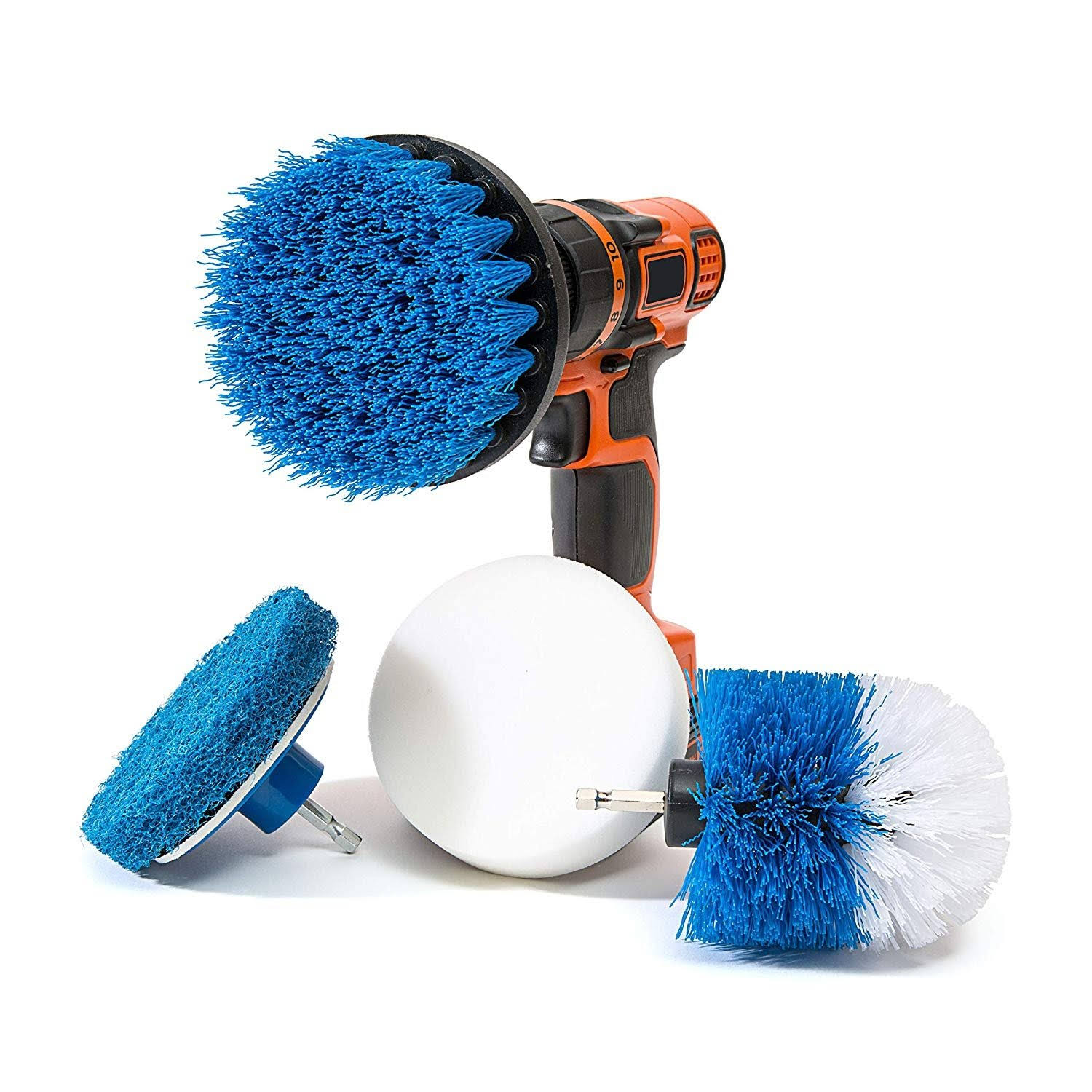RevoClean Household Cleaning Brush - Blue, Set of 4