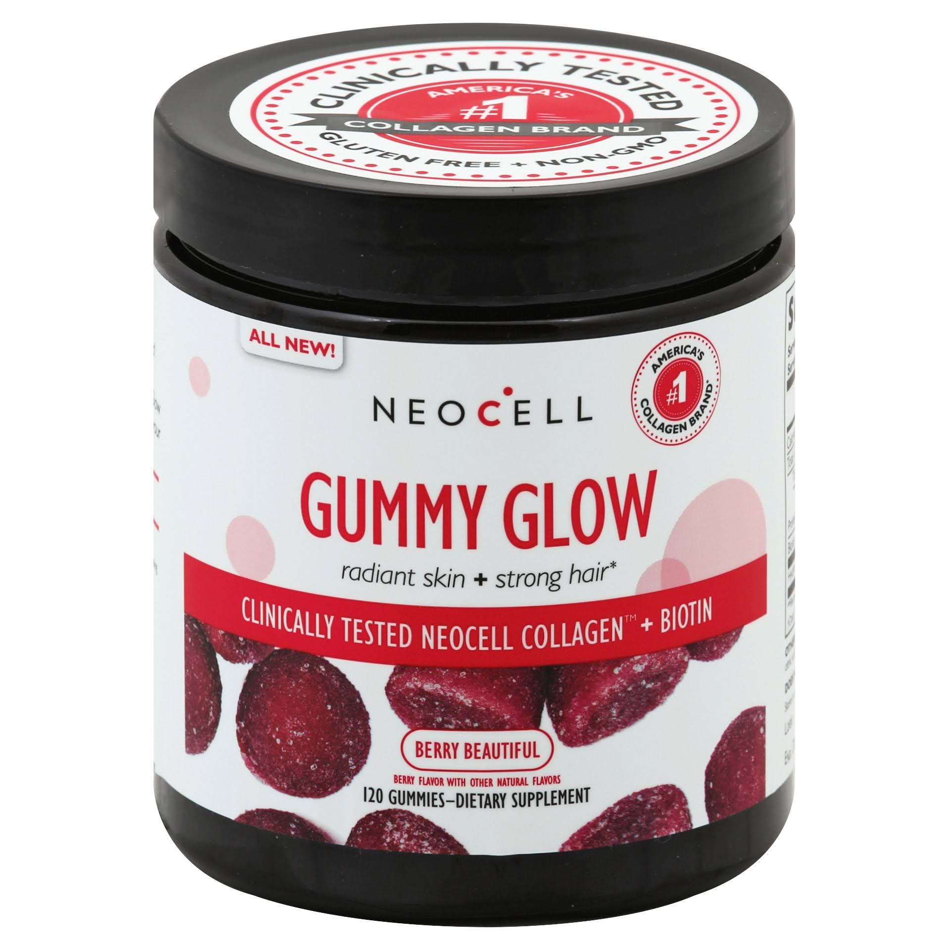 Neocell Gummy Glow, Gummies, Berry Beautiful - 120 gummies