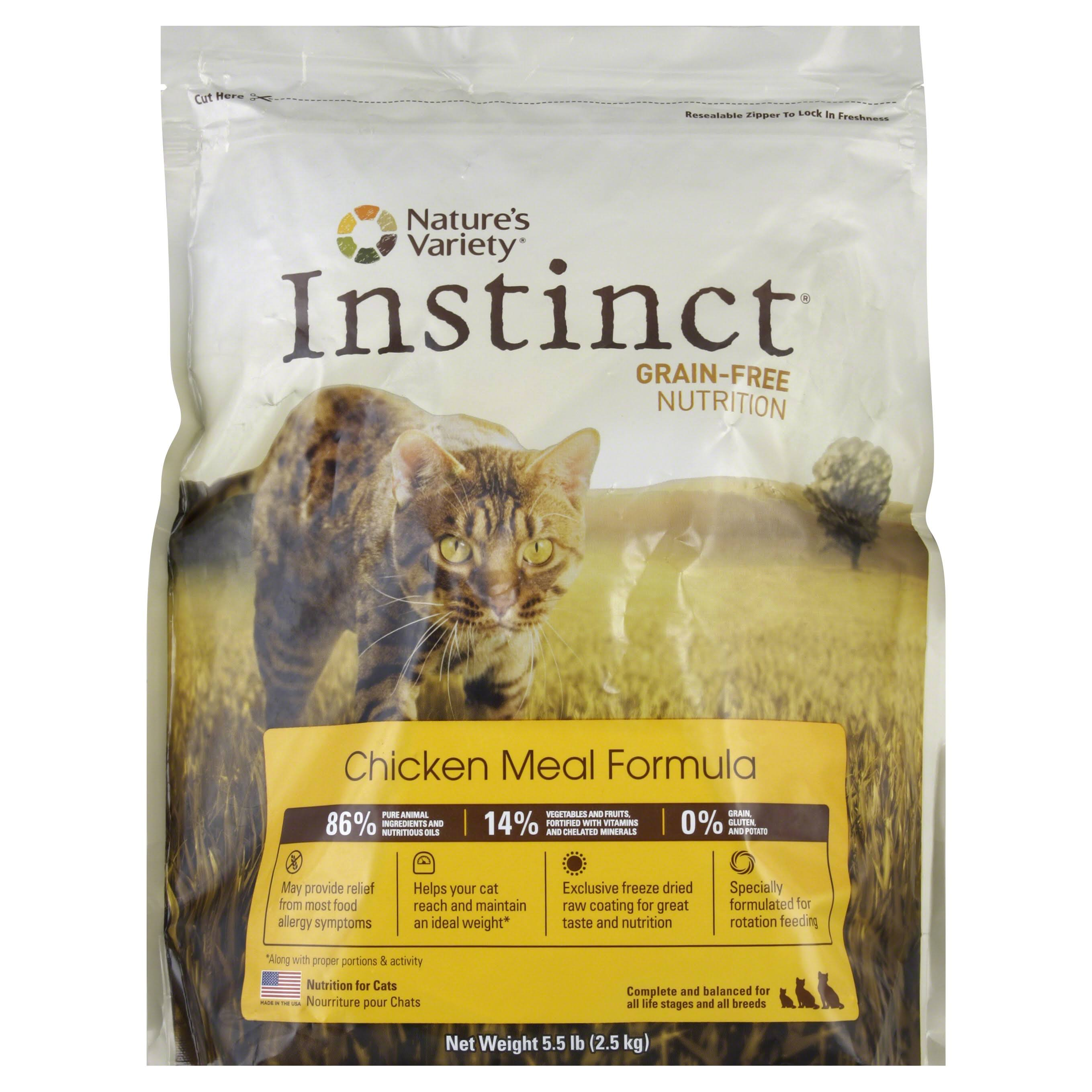 Nature's Variety Instinct Grain-Free Chicken Meal Formula Dry Cat Food - 5.5lb