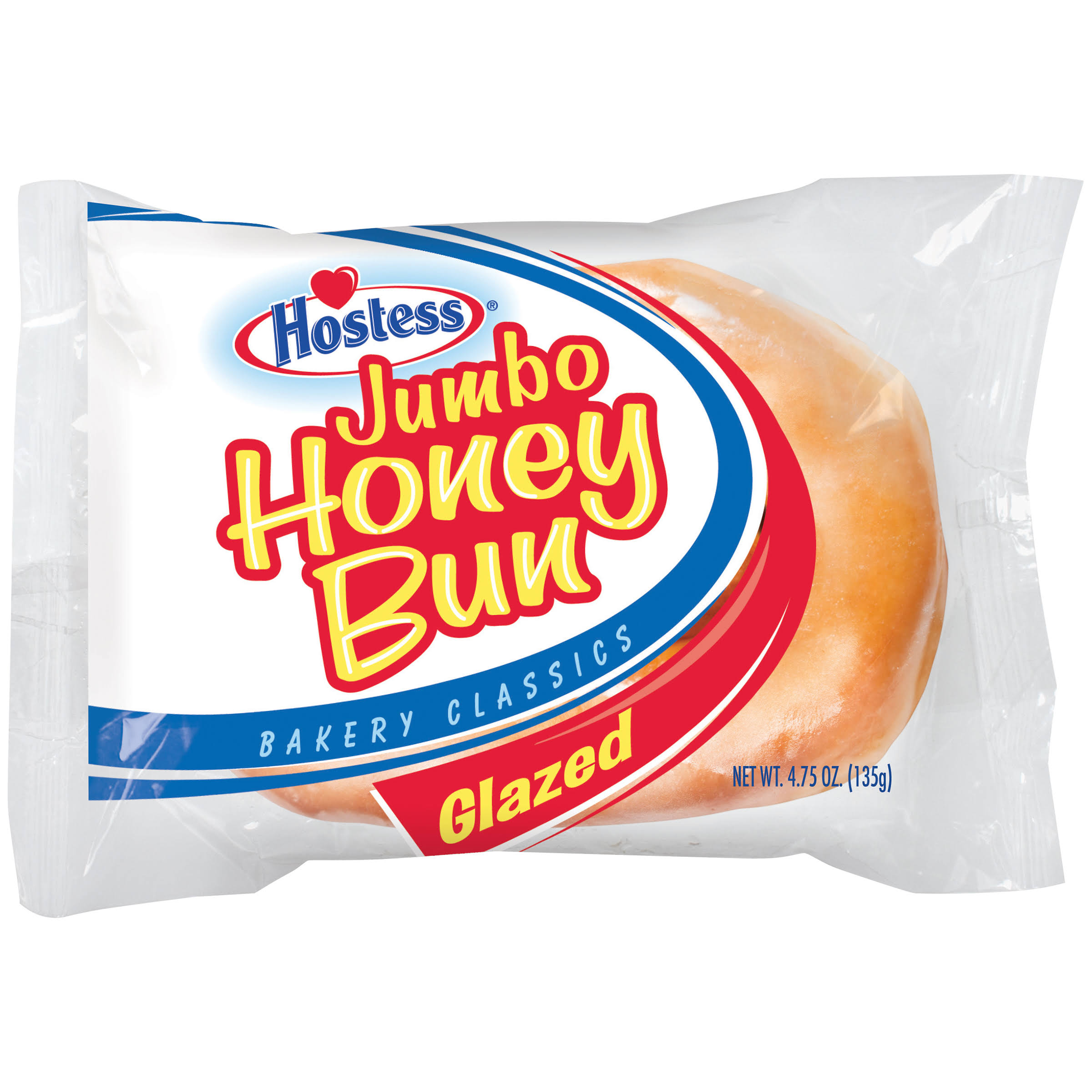 Hostess Glazed Jumbo Honey Bun - 4.75oz