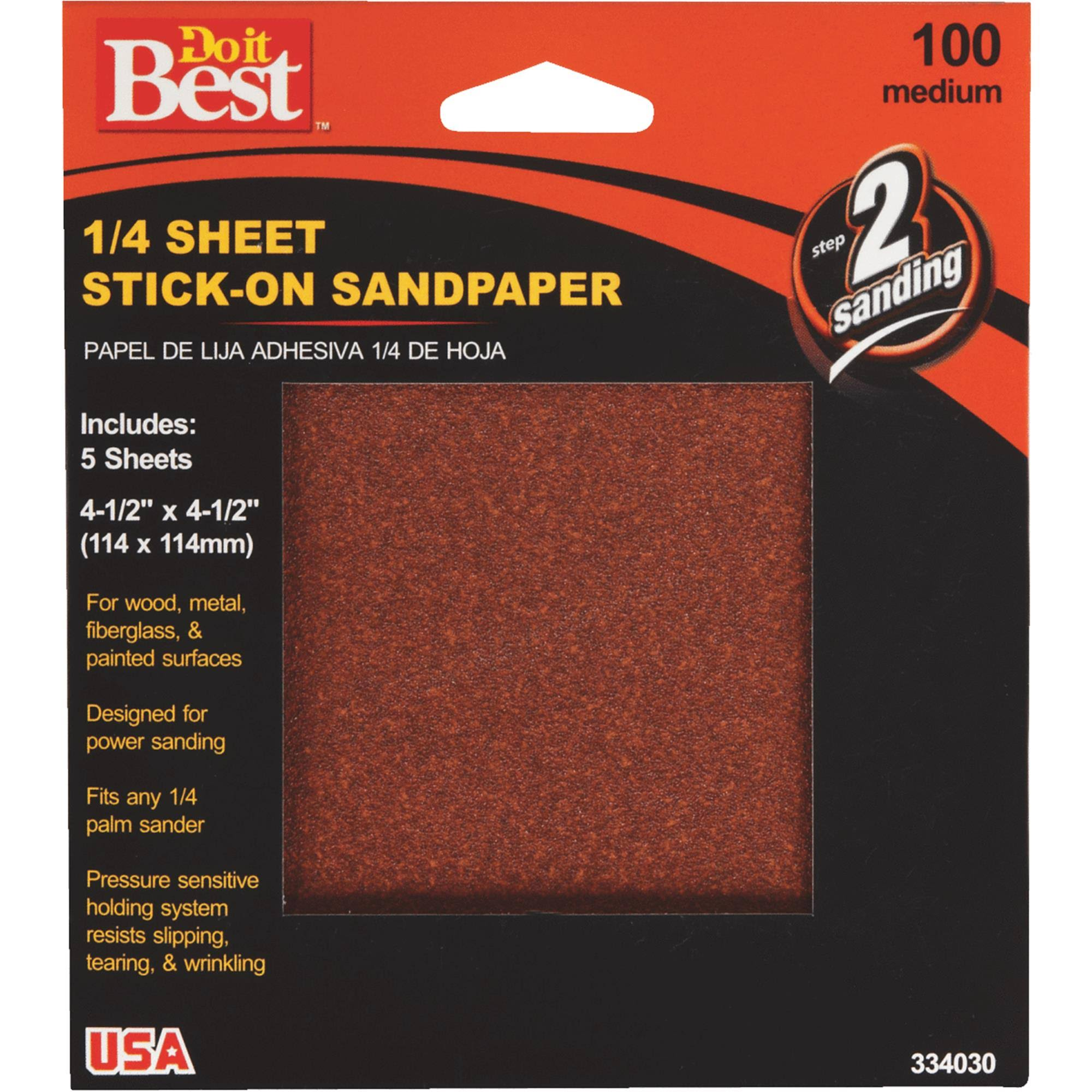Do it Best Stick-On Sandpaper - 1/4 sheet