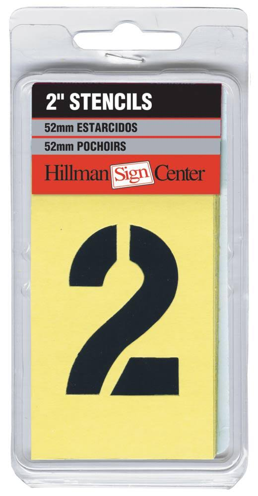 The Hillman Group Numbers, Letters, and Punctuation Combo Stencil Set - 2in