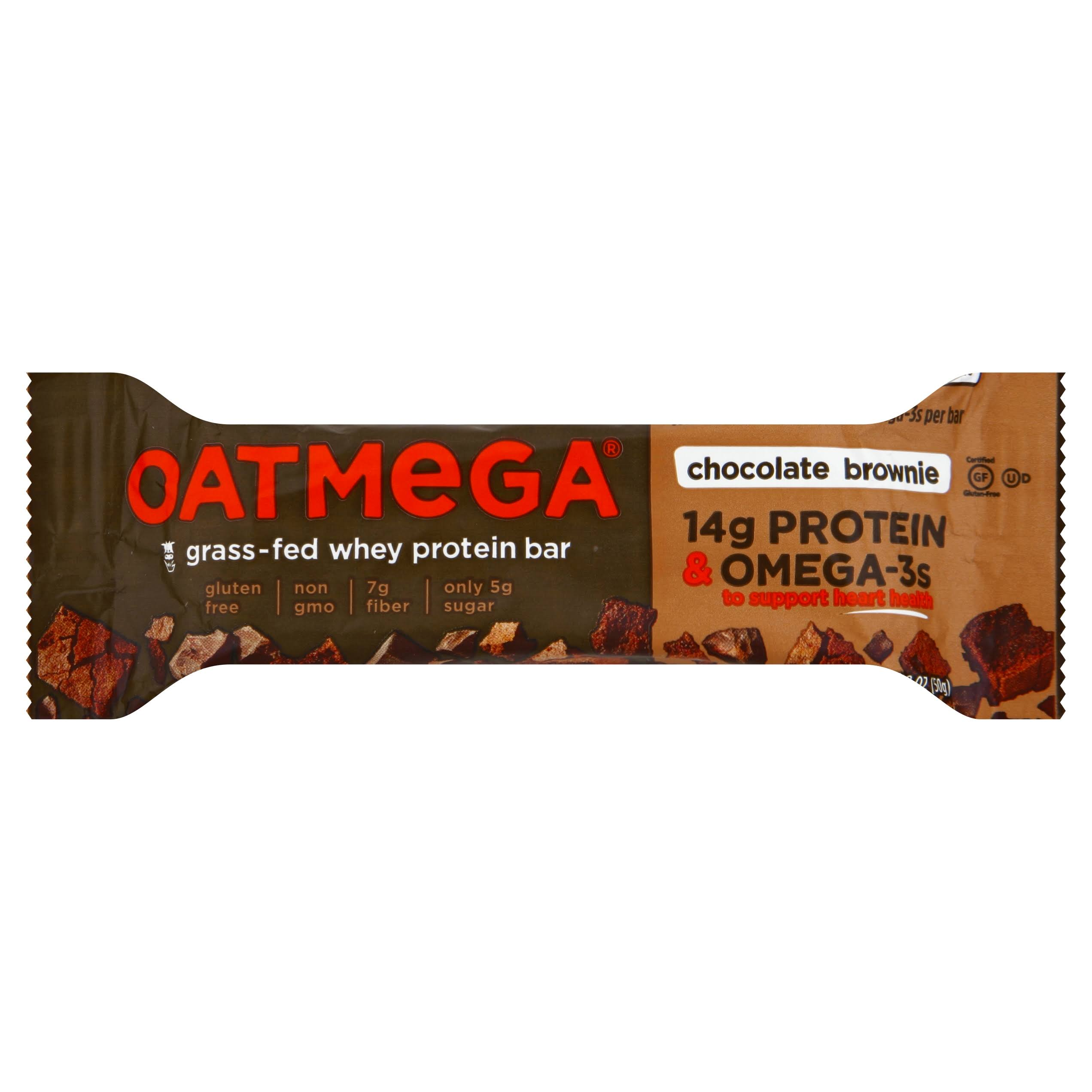 Oatmega Protein Bar, Chocolate Brownie - 1.8 oz