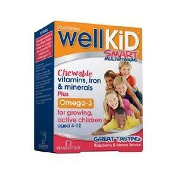 Vitabiotics Wellkid Smart Chewable Tablets - 30ct