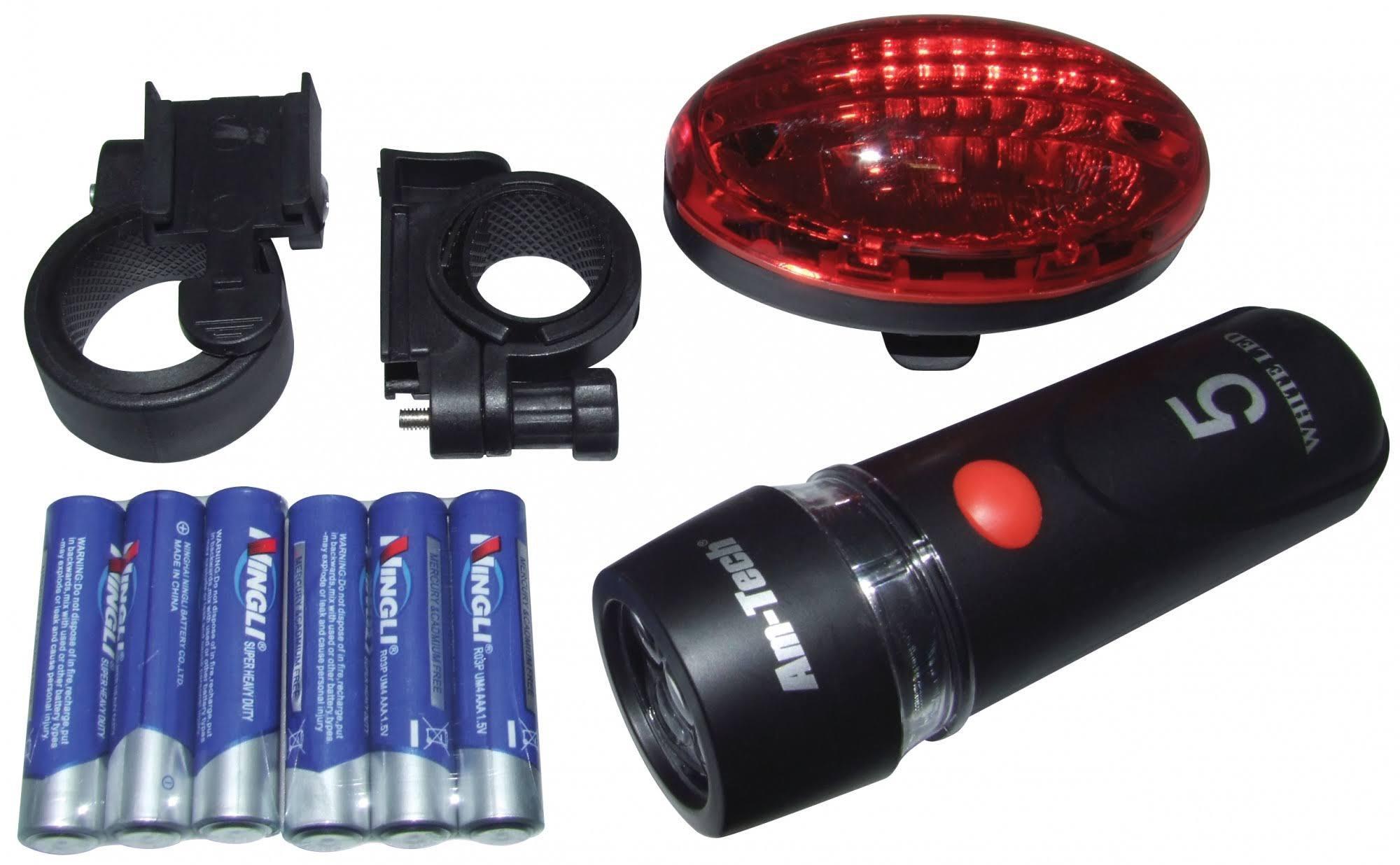 Amtech LED Front & Rear Bicycle Light Set | S1826