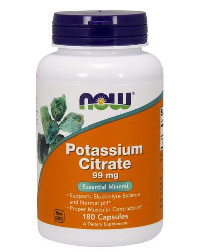 Now Potassium Citrate - 99mg, 180 Capsules