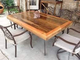 Build Your Own Outdoor Patio Table by Patio Tabletop Made From Reclaimed Deck Wood 4 Steps With Pictures