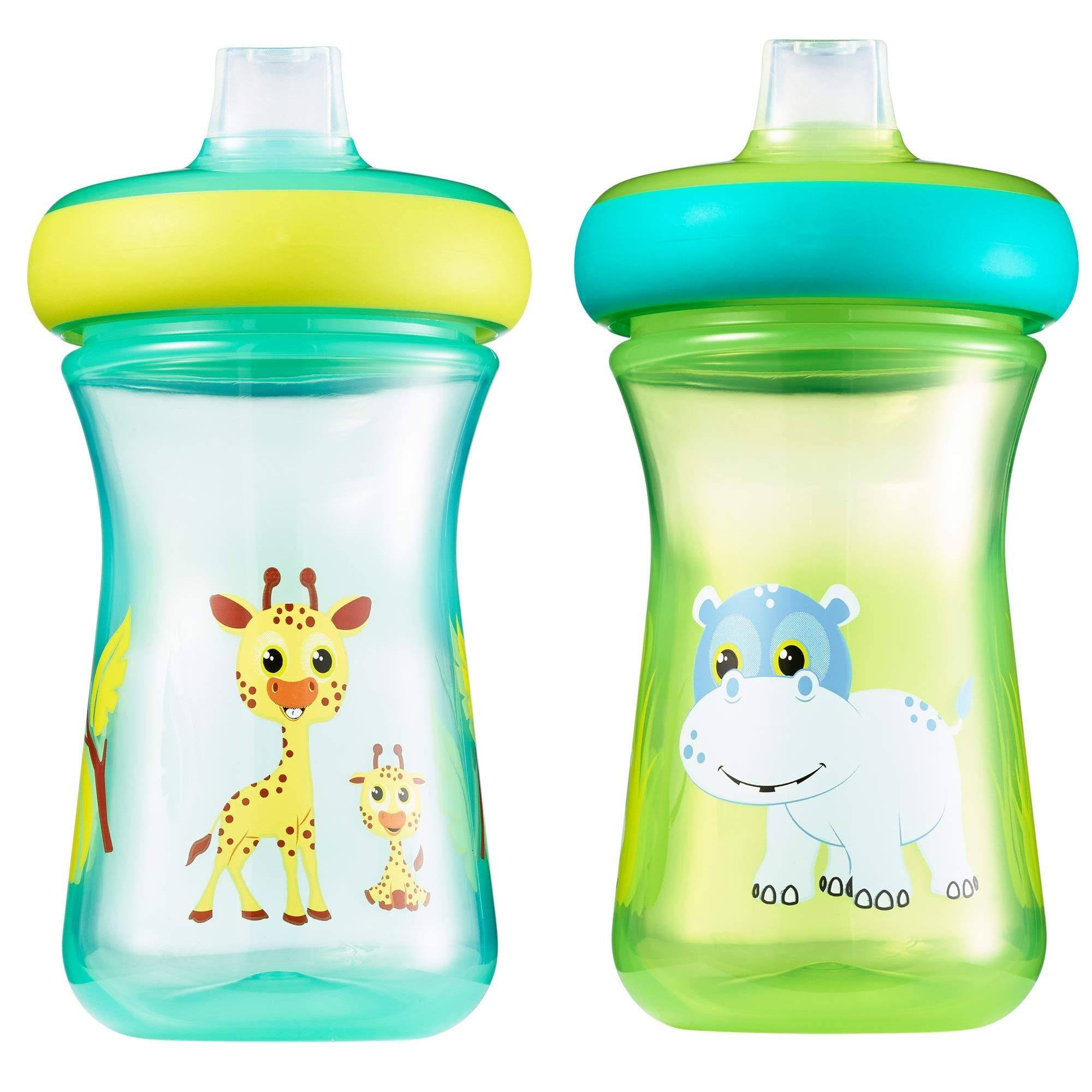 The First Years 2-Pack 9 oz. Insulated Soft Spout Safari Sippy Cups