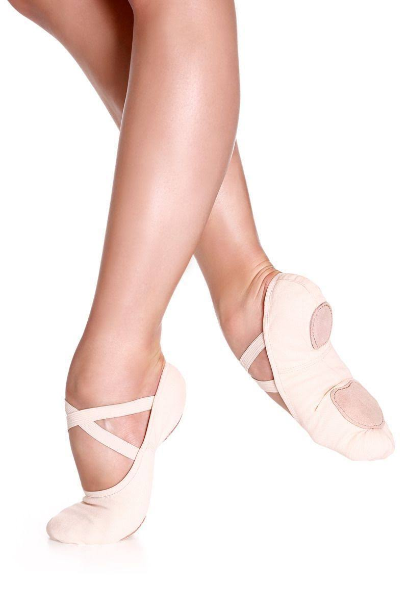 So Danca SD16 Canvas Split Sole Ballet Shoe 6 / Pink