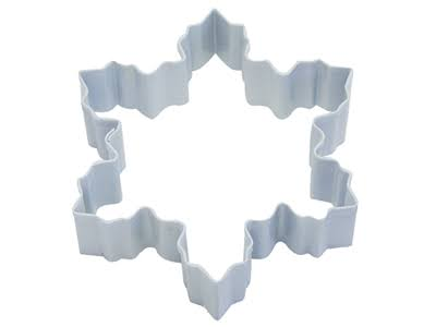 D-Line Snowflake Cookie Cutter Snowflake - White