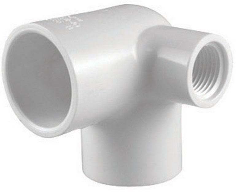 "Charlotte Pipe Pvc Side Outlet Elbow Pipe - 1"" x 1"" x 1/2"""
