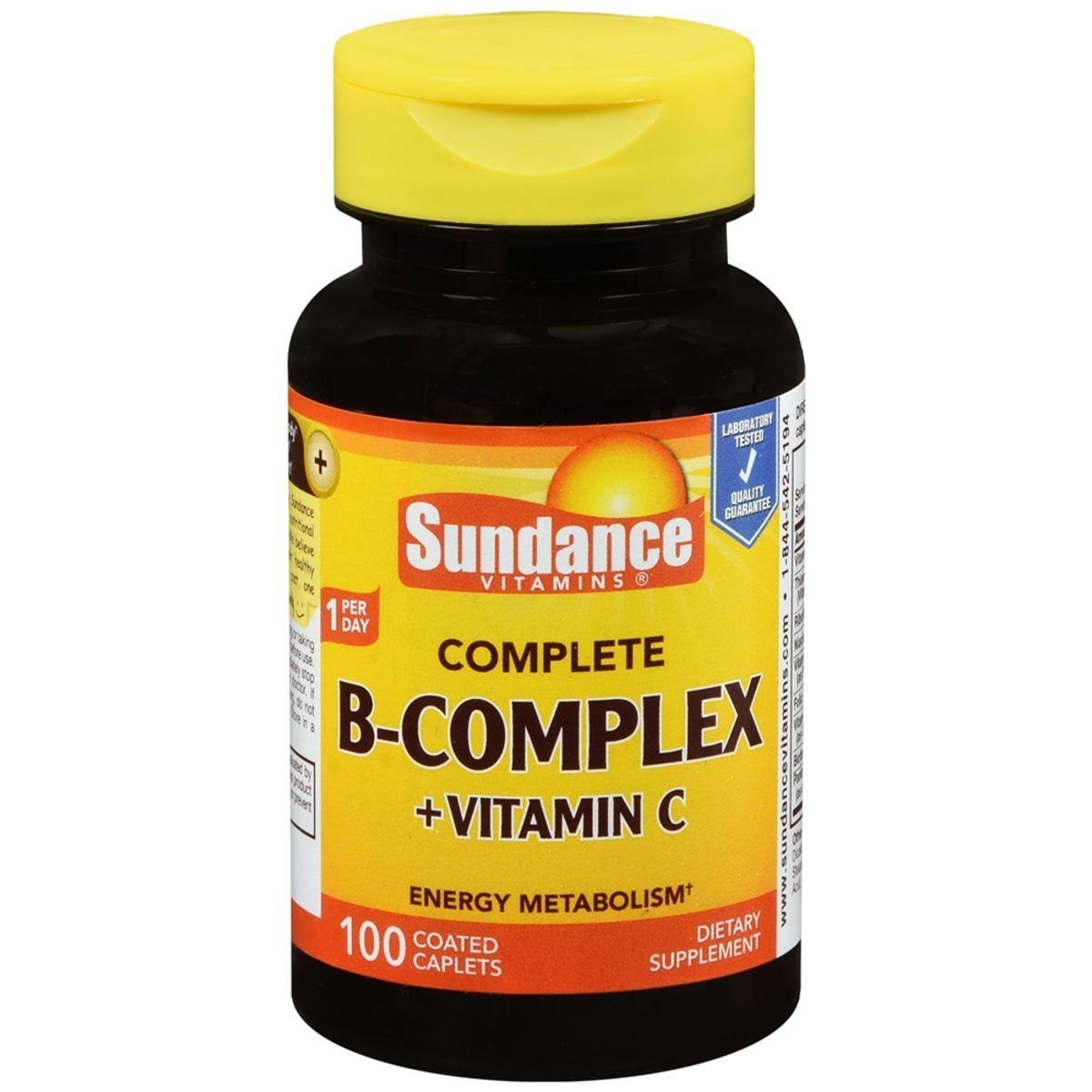 Sundance Complete B Complex Plus Vitamin C Supplement - 100 Tablets