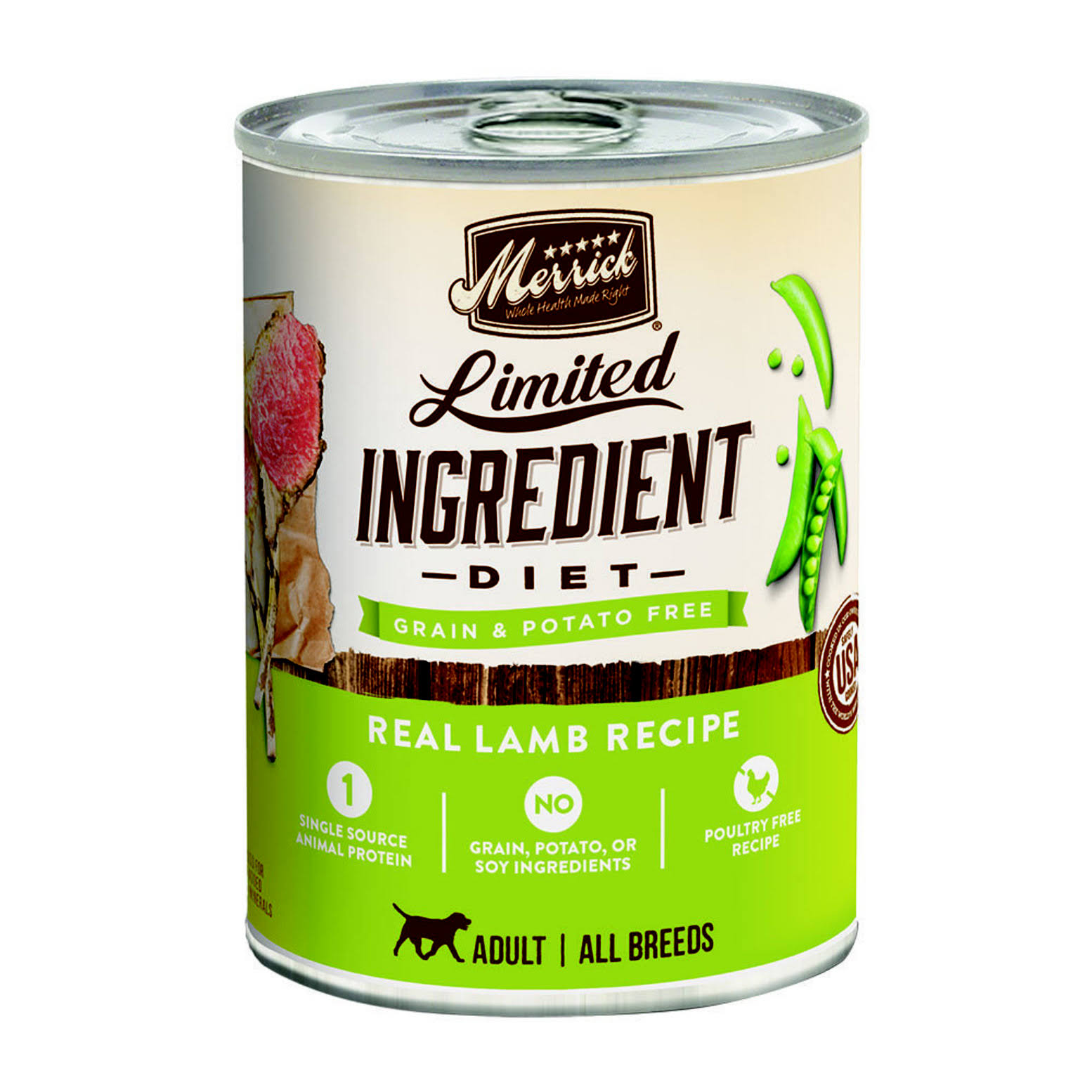 Merrick Limited Ingredient Diet Real Lamb Recipe Pet Food - 12.7 Oz