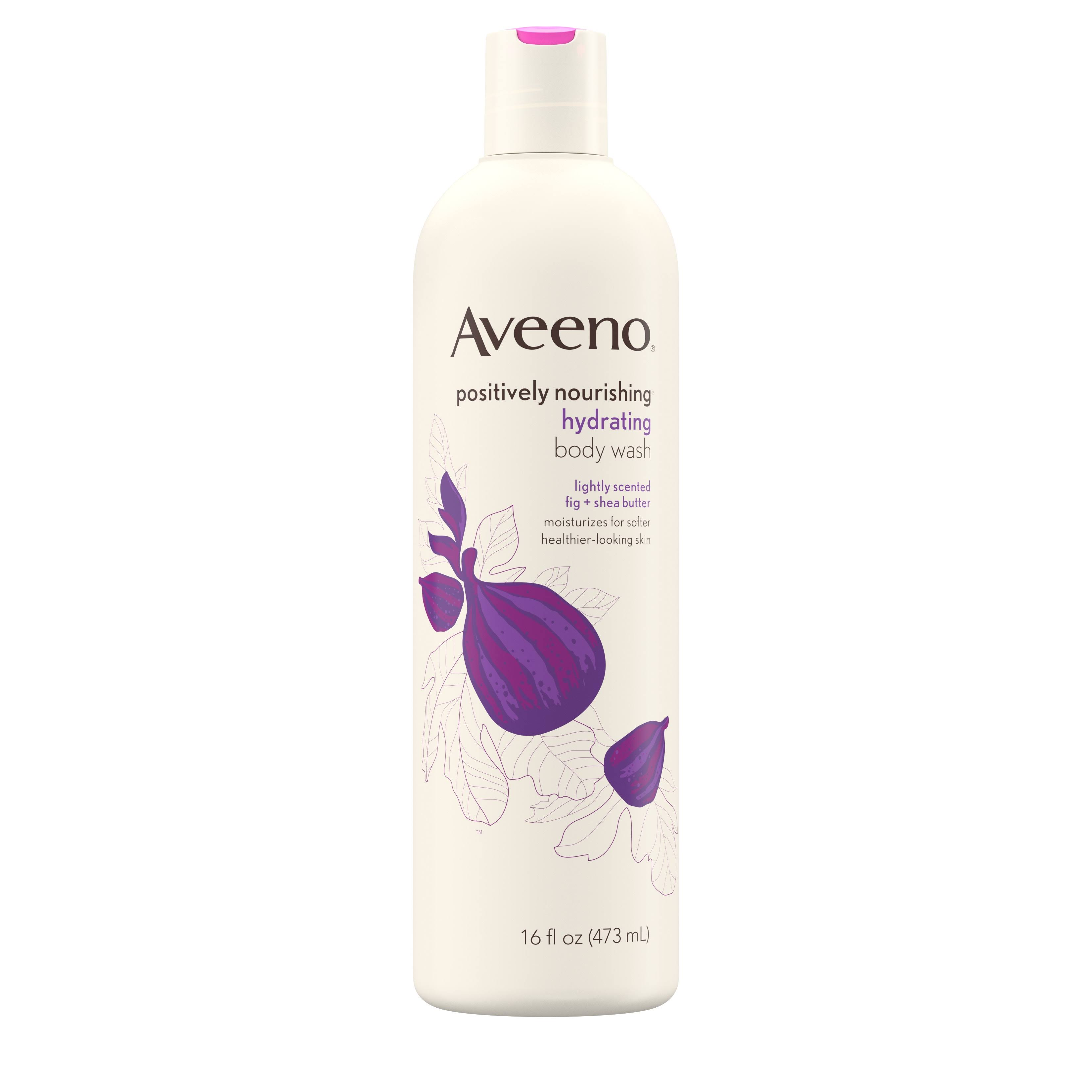 Aveeno Positively Nourishing Hydrating Body Wash - 473ml, Fig Shea Butter