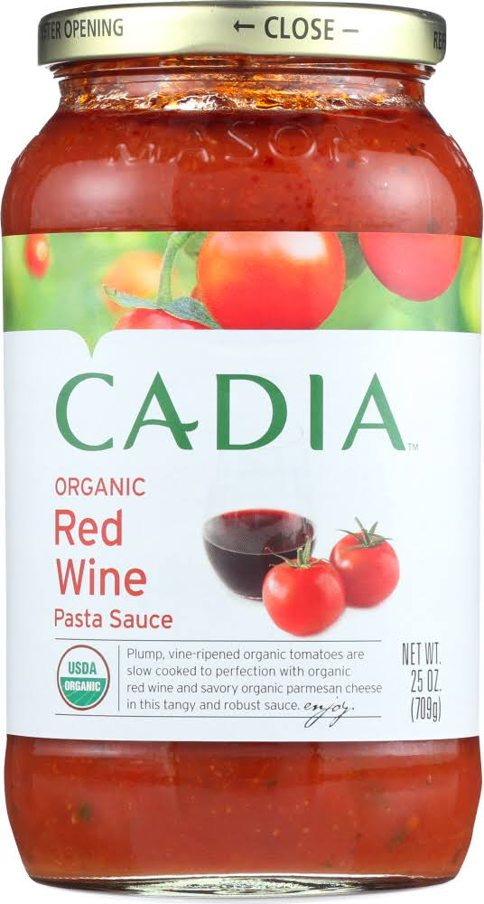 Cadia Organic Red Wine Pasta Sauce - 25 oz