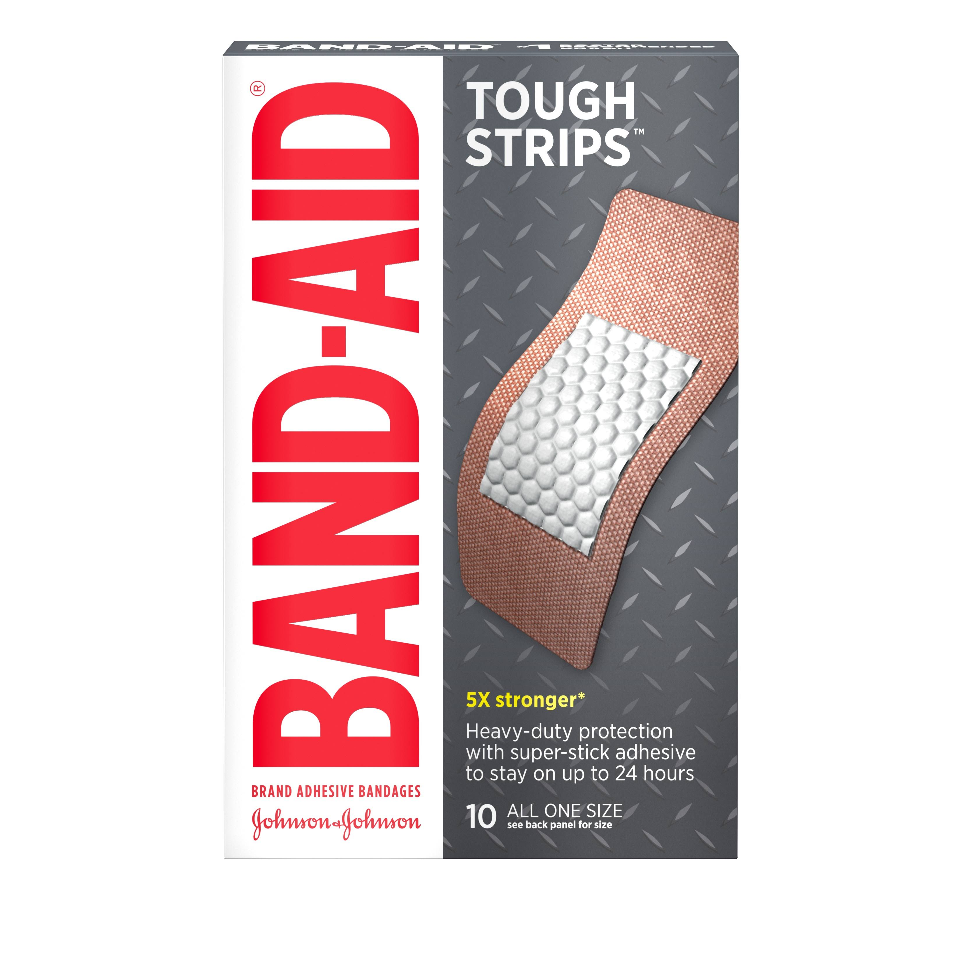 Band-Aid Tough-Strip Adhesive Bandages - X-Large, x10