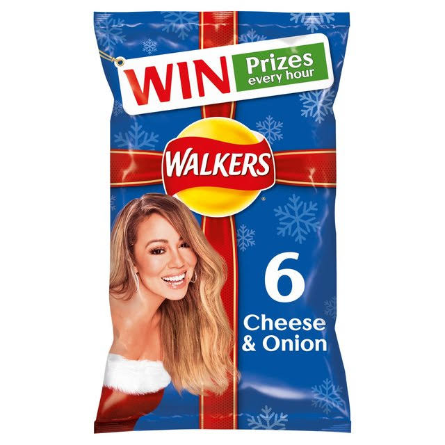 Walkers Crisps - Cheese And Onion, 6 Pack