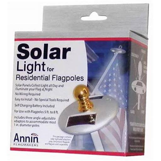 Annin Flagmakers Residential Flag Pole Mini Solar Light - Silver, 6 lumens
