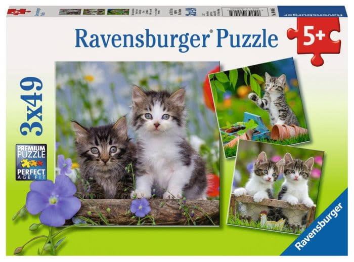 Ravensburger Cute Kittens Jigsaw Puzzle - 49pcs, 3pk