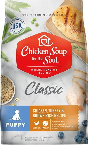 Chicken Soup for The Soul Puppy Recipe with Chicken, Turkey & Brown Rice Dry Dog Food 4.5-lb