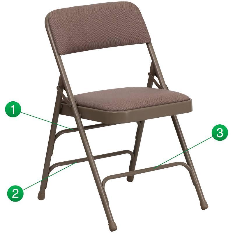 Flash Furniture Hercules Series Upholstered Metal Folding Chair - HA-MC309AF-BGE-GG