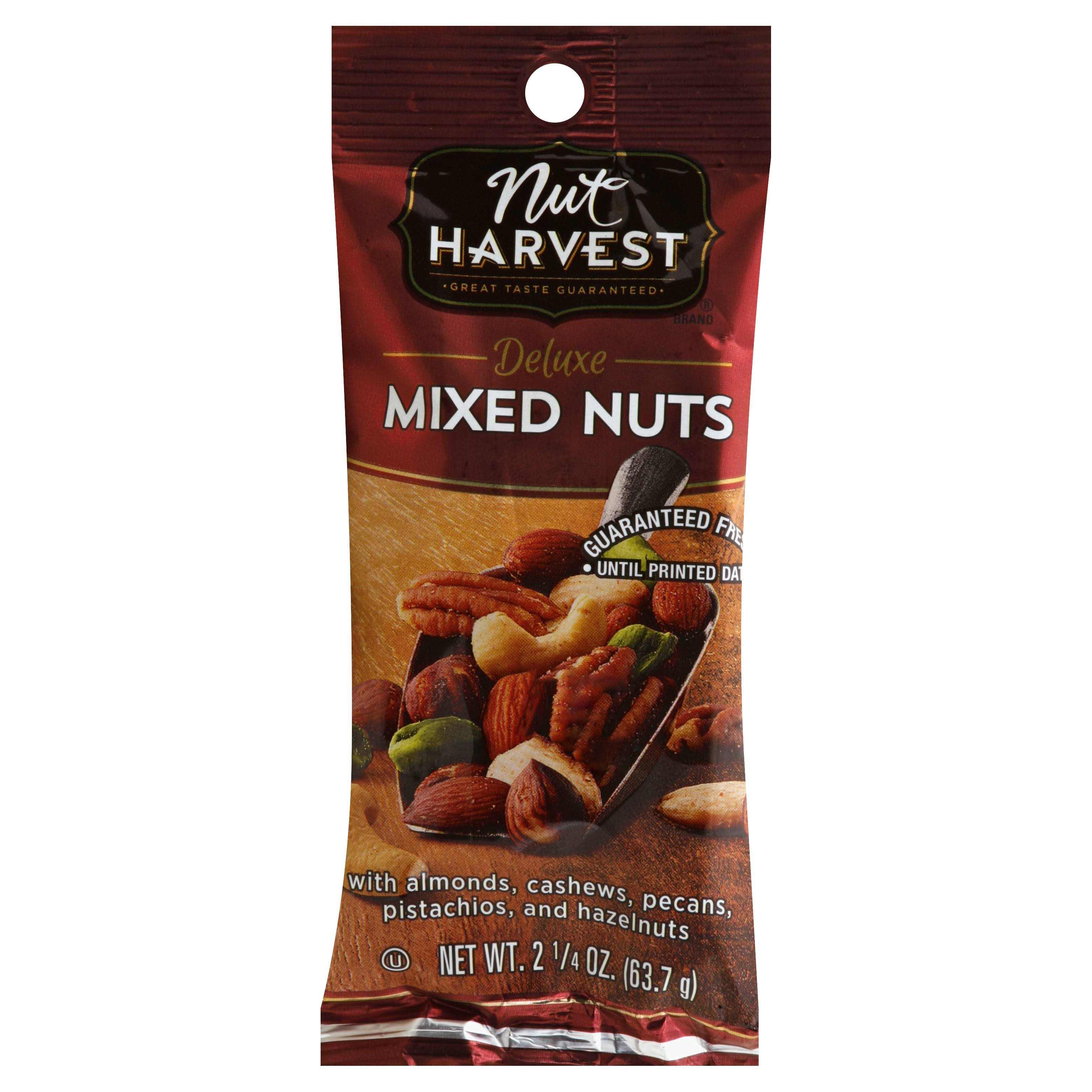 Nut Harvest Mixed Nuts, Deluxe - 2.25 oz