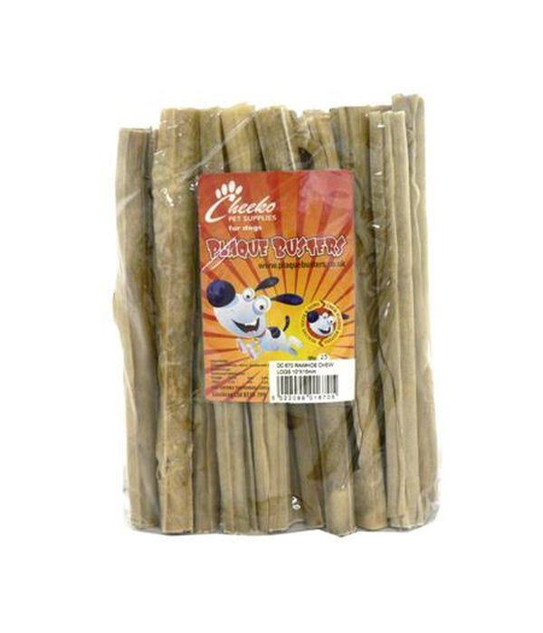 Plaque Busters - Rawhide Chew Logs - 10inch x15mm
