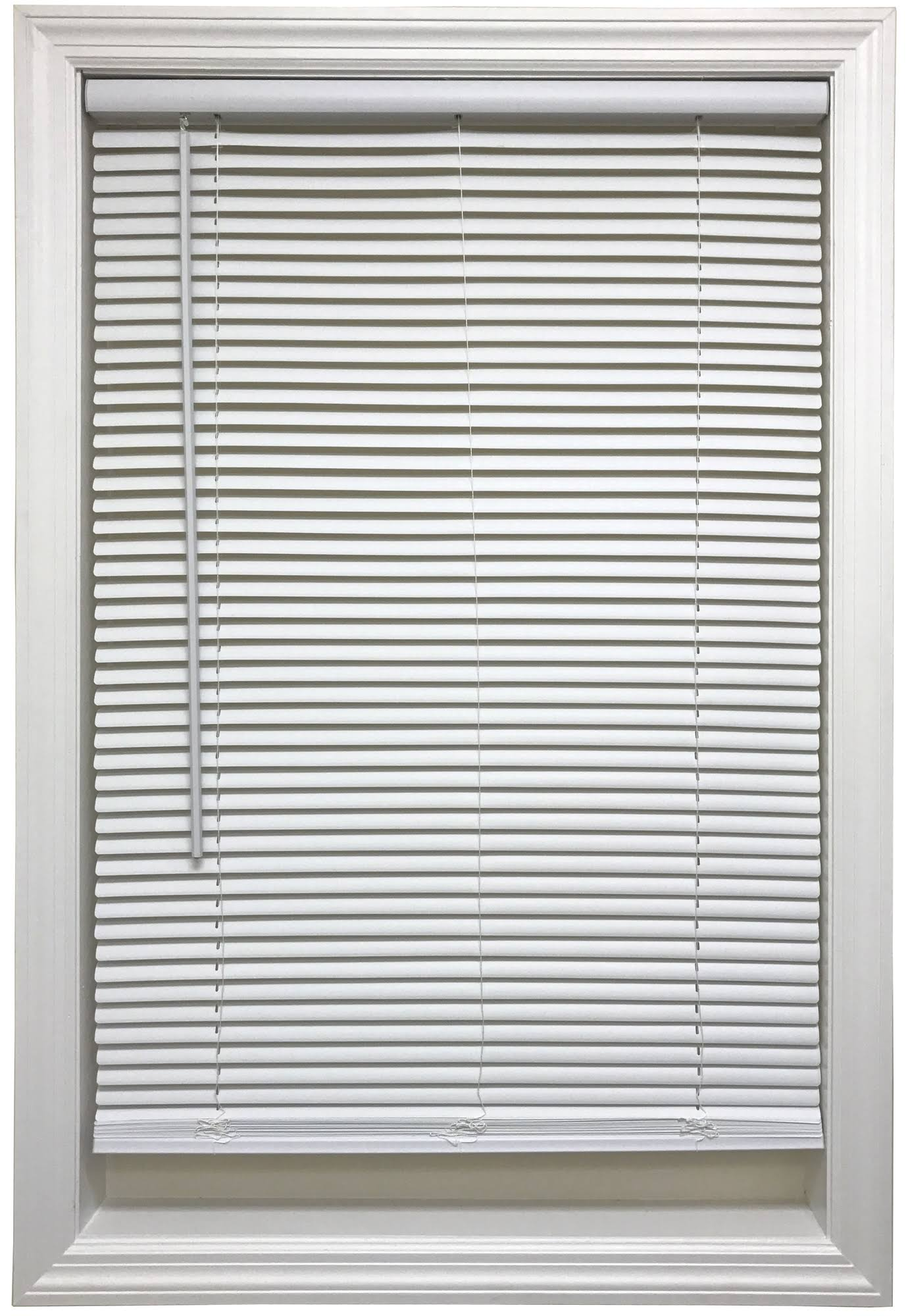 Cordless 1 inch Mini Blind, 31 inch Wide x 64 inch Long, White