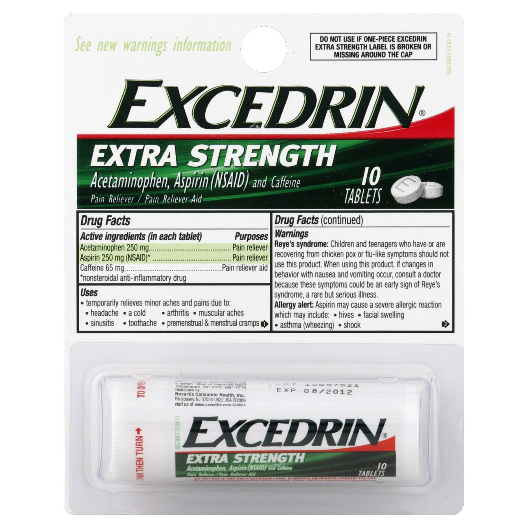 Excedrin Pain Reliever/Pain Reliever Aid Extra Strength Tablets