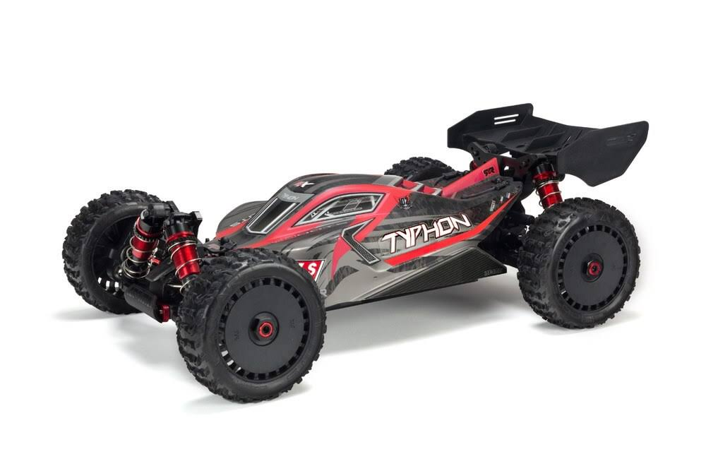Arrma Typhon 6s 4wd Blx Buggy RTR Model Kit - 1:8 Scale, Red and Gray