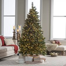 Puleo Christmas Tree Instructions by 7 Ft Pre Lit Hard Needle Deluxe Cashmere Pine Christmas Tree By
