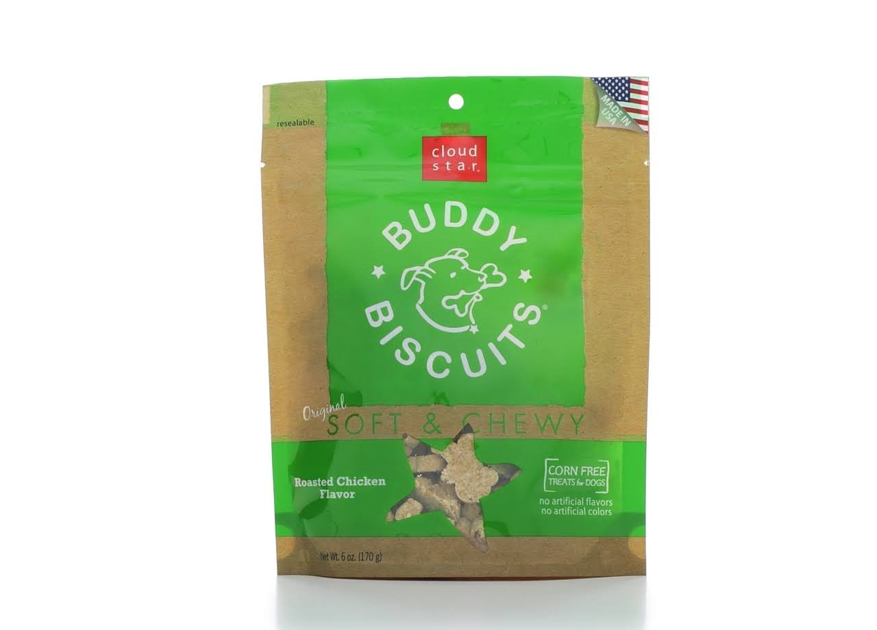 Cloud Star Buddy Biscuits - Soft & Chewy, Roasted Chicken, 170g