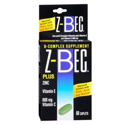 Z Bec B Complex Dietary Supplement - 60ct