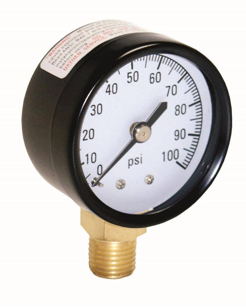 Water Source Pressure Gauge - 100lb