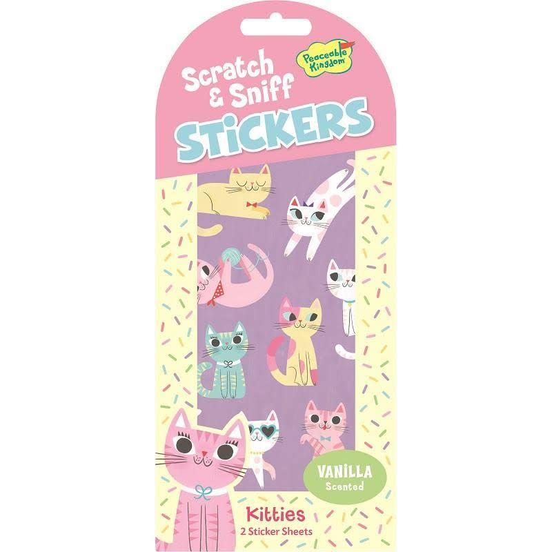 Peaceable Kingdom Kitties Scratch and Sniff Stickers - Vanilla