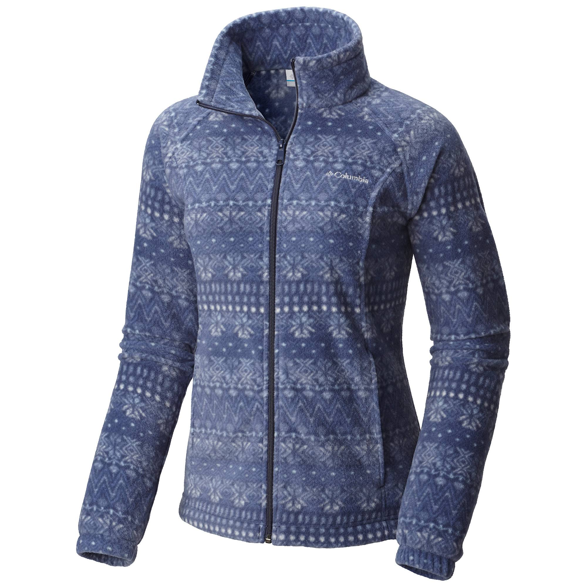 Columbia Women's Benton Springs Print Full Zip (L Nocturnal Nordic Stripe)