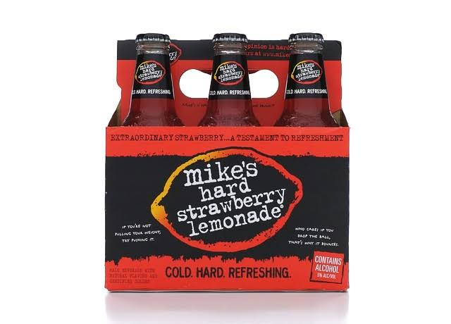 Mikes Malt Beverage, Premium, Hard Strawberry Lemonade - 6 pack, 11.2 fl oz bottles