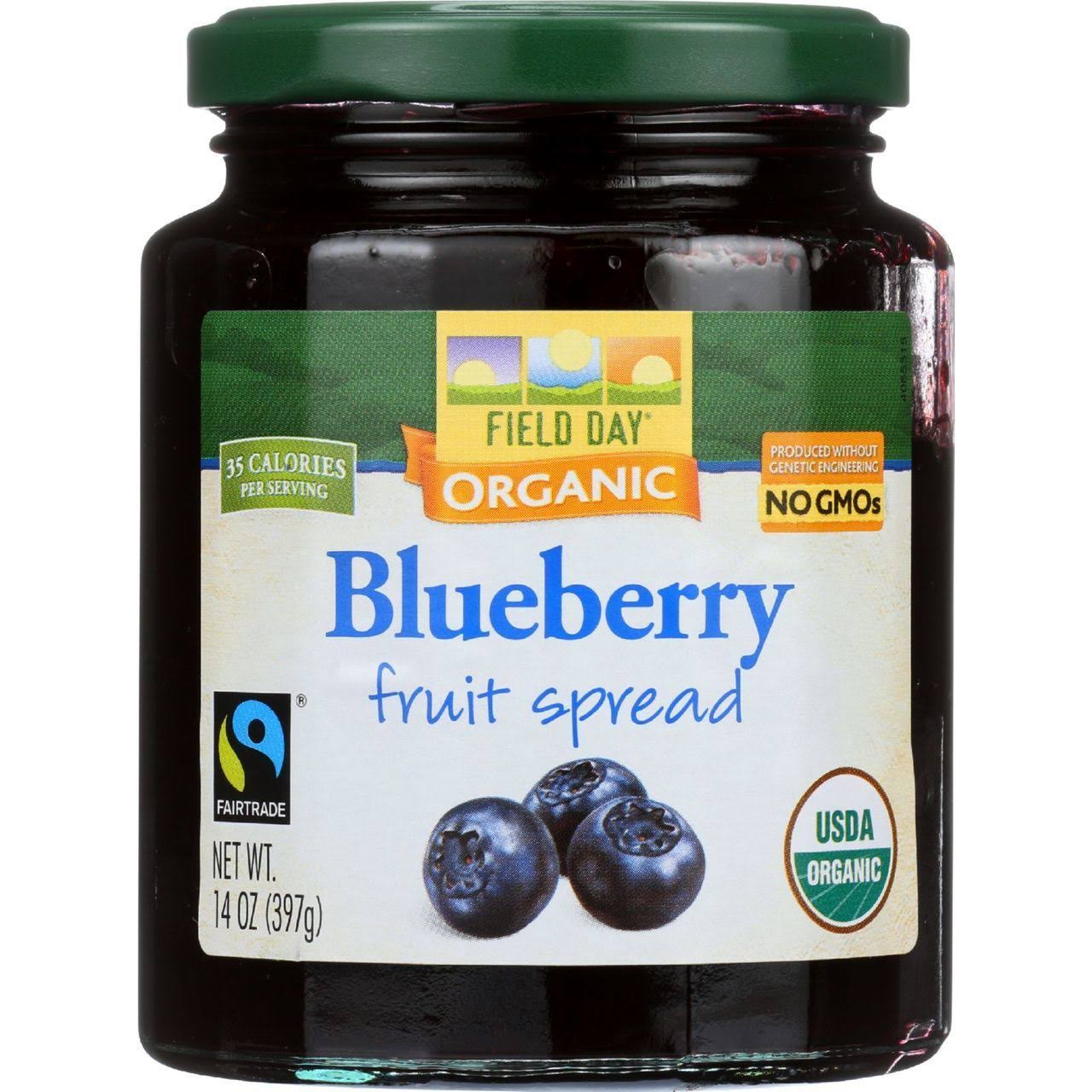Field Day Organic Fruit Spread - Blueberry, 397g