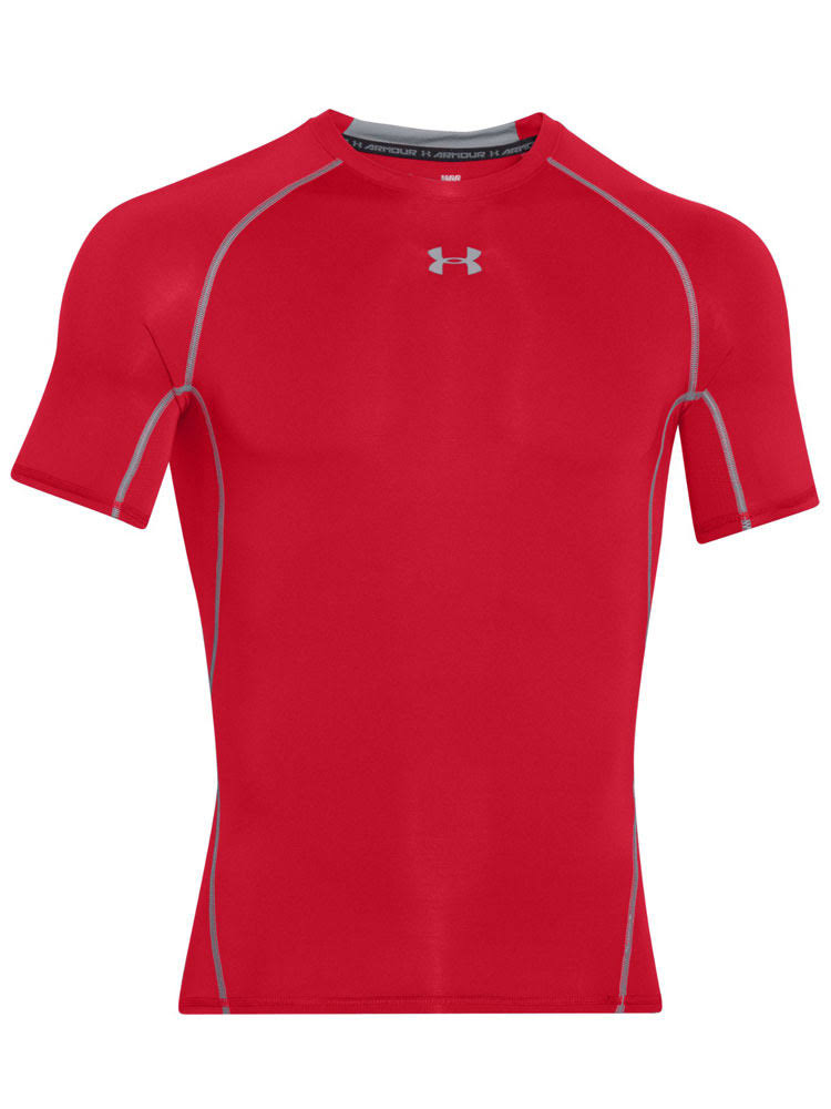 Under Armour Men's HeatGear Armour T-Shirt - Red XS