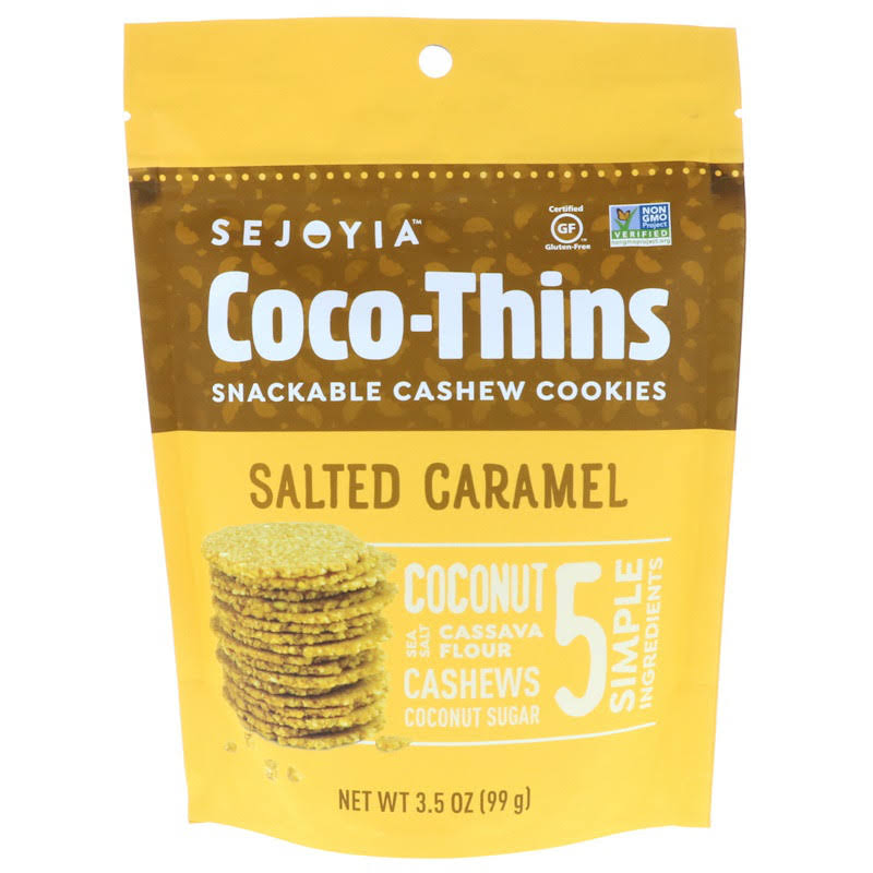 Sejoyia Foods - Snackable Coco Thins Cashew Cookies Salted Caramel - 3.5 oz.