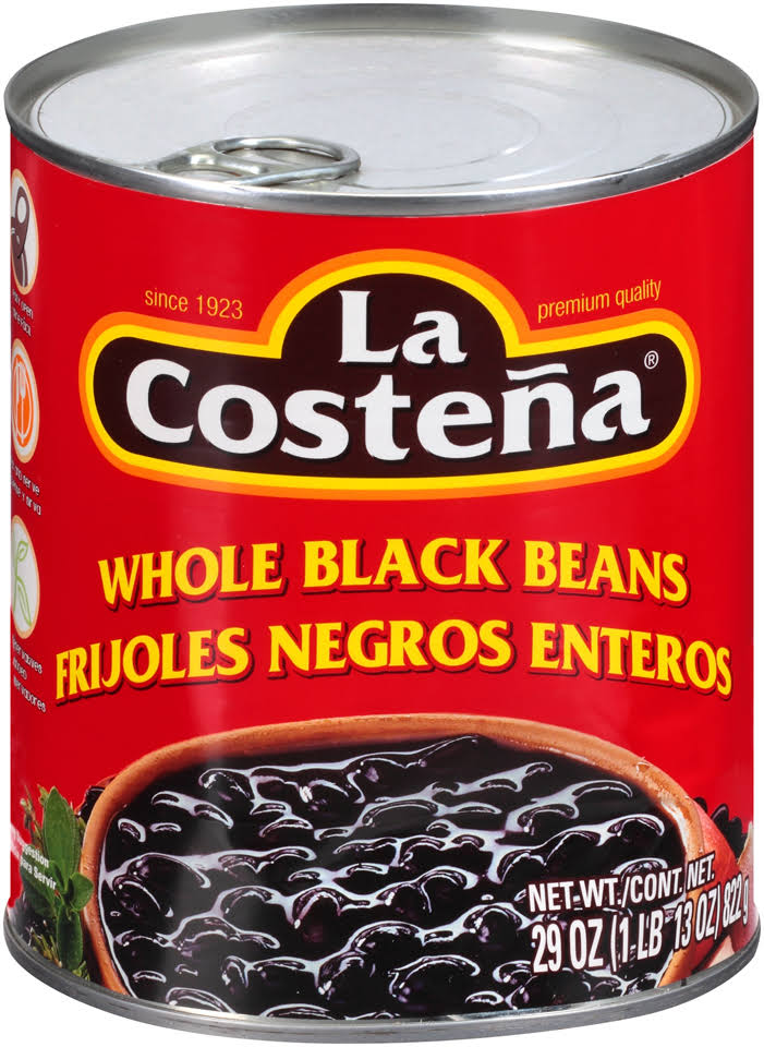 La Costena Whole Black Beans 29 oz.