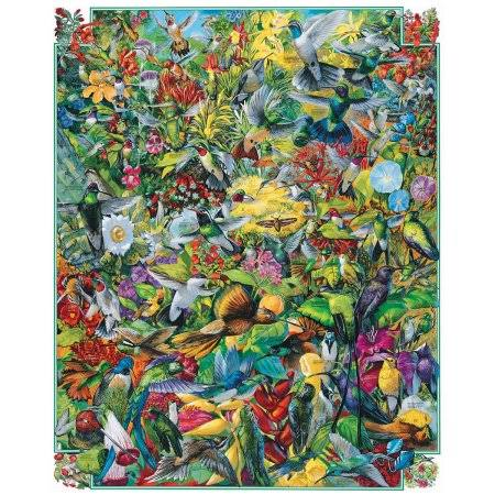 White Mountain Jigsaw Puzzle - Hummingbirds, 1000 Pieces