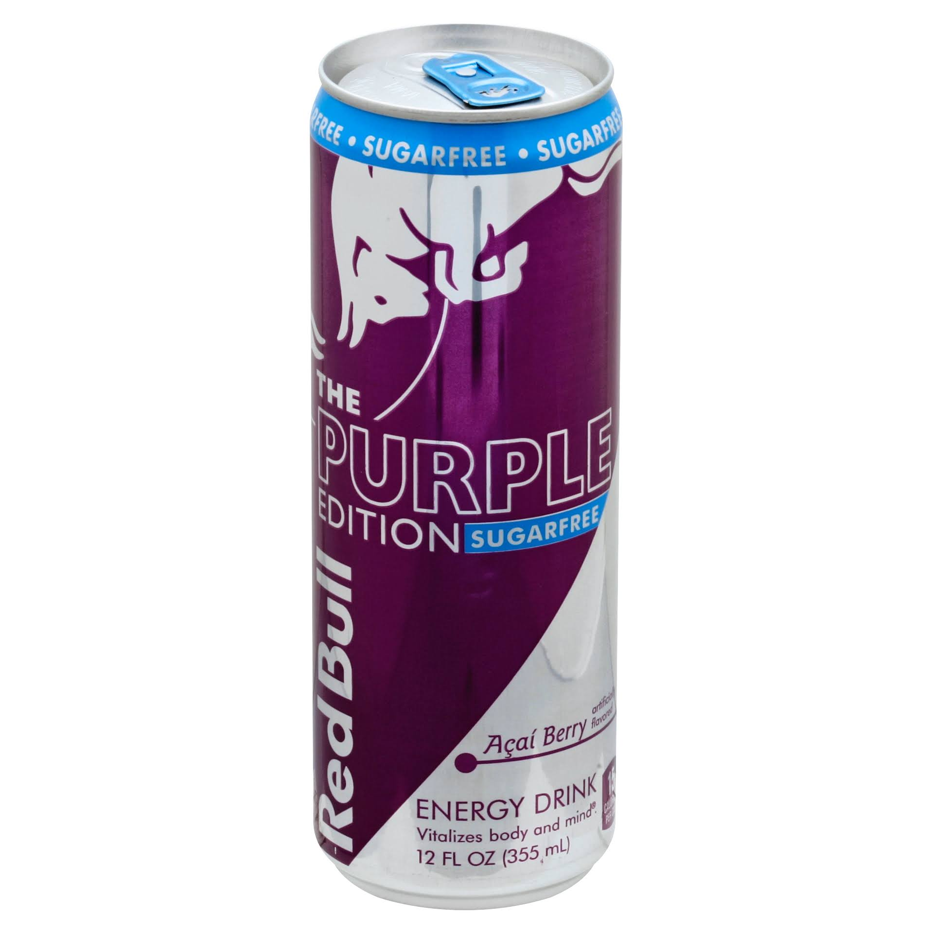 Red Bull Energy Drink, The Purple Edition, Sugarfree, Acai Berry - 12 fl oz