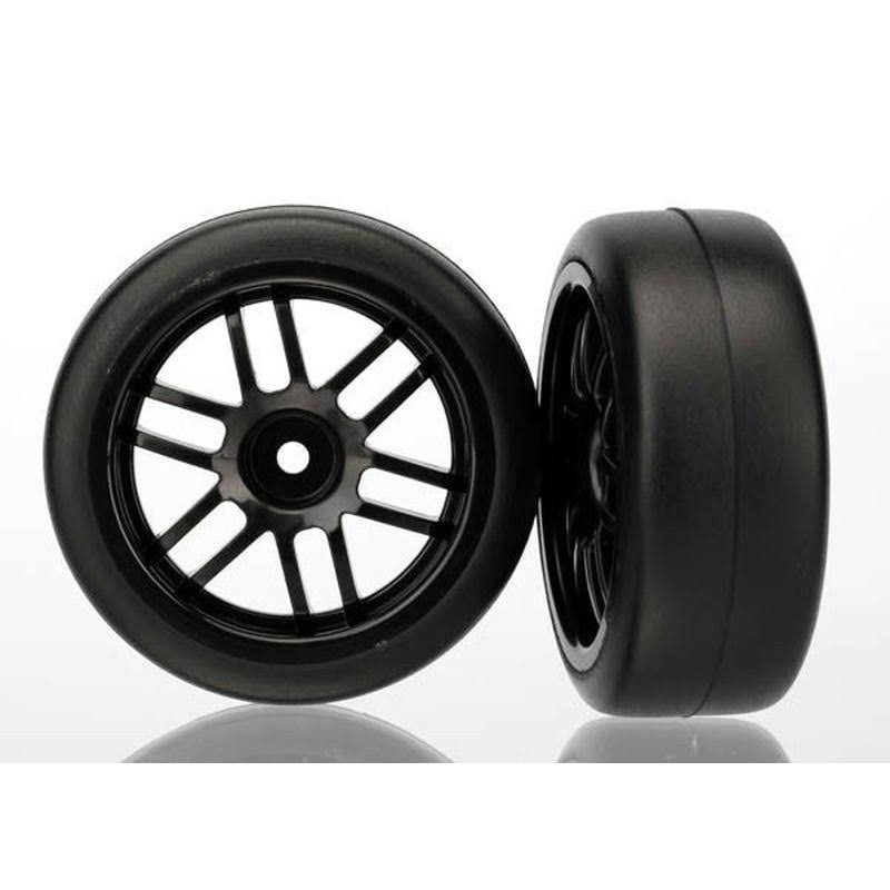 Traxxas ASSM Wheels Gymkhana Slick Tires - Black, 2 Pack