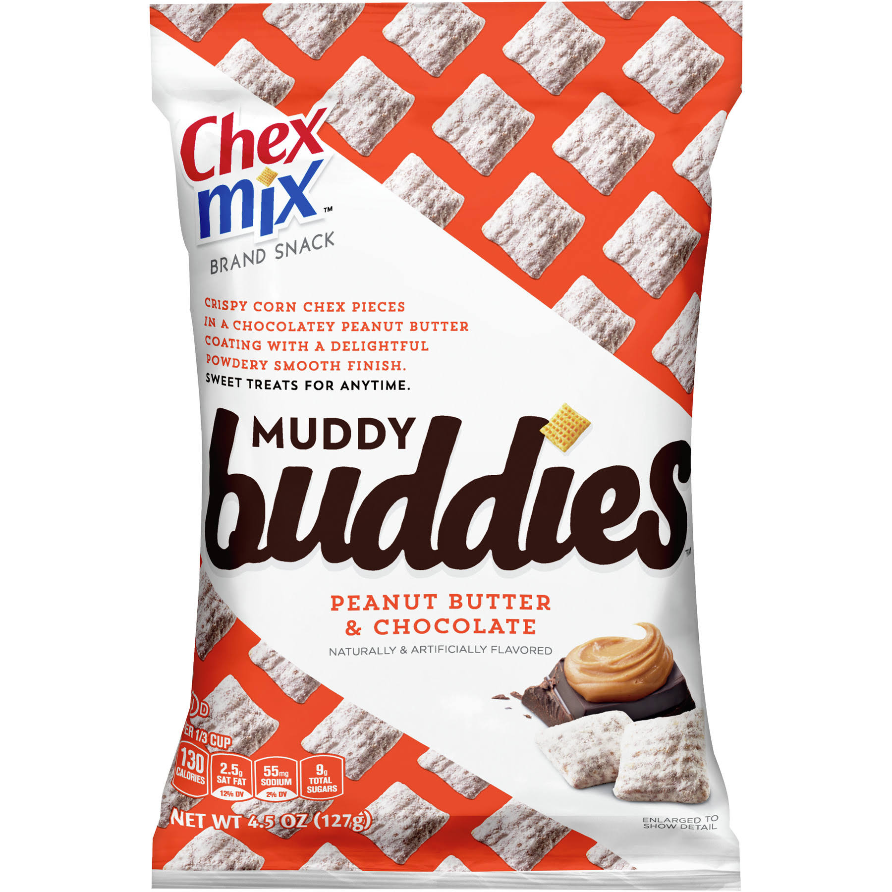 Chex Mix Muddy Buddies - Peanut Butter and Chocolate, 4.5oz