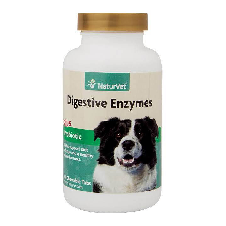 Naturvet Digestive Enzymes Dog Health Supplement - 60ct