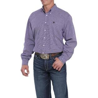 Cinch Men's Purple Geo Print Button Long Sleeve Western Shirt L