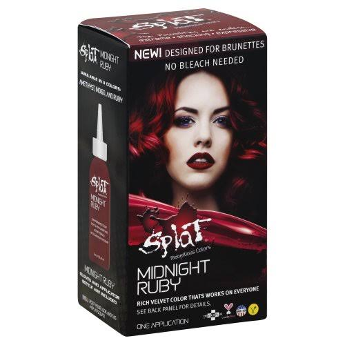 Developlus Splat Midnight Ruby Rebellious Hair Color - Red