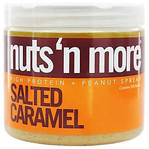 Nuts N More Salted Caramel Peanut Butter - 16 oz tub