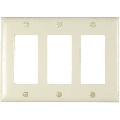 Pass & Seymour Tp263lacc12 Decorator Wall Plate - Almond, 3 Gang